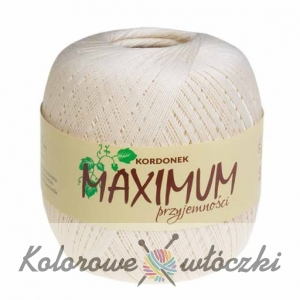 Kordonek MAXIMUM 100g ecru 002
